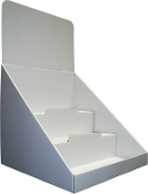 "12""wide 3 Tier Counter Display in White"