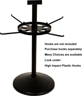 "Single Tier Spinner with 17"" Pole & 7"" Disks"