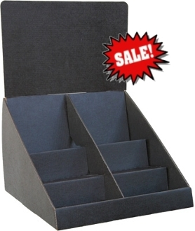 "12""wide 3 Tier Counter with Divider in Black"